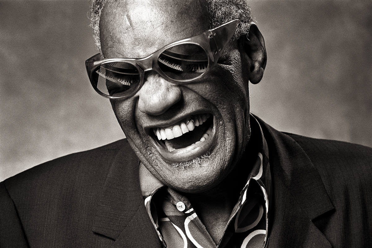 Ray Charles, 1985. Foto: © Norman Seeff