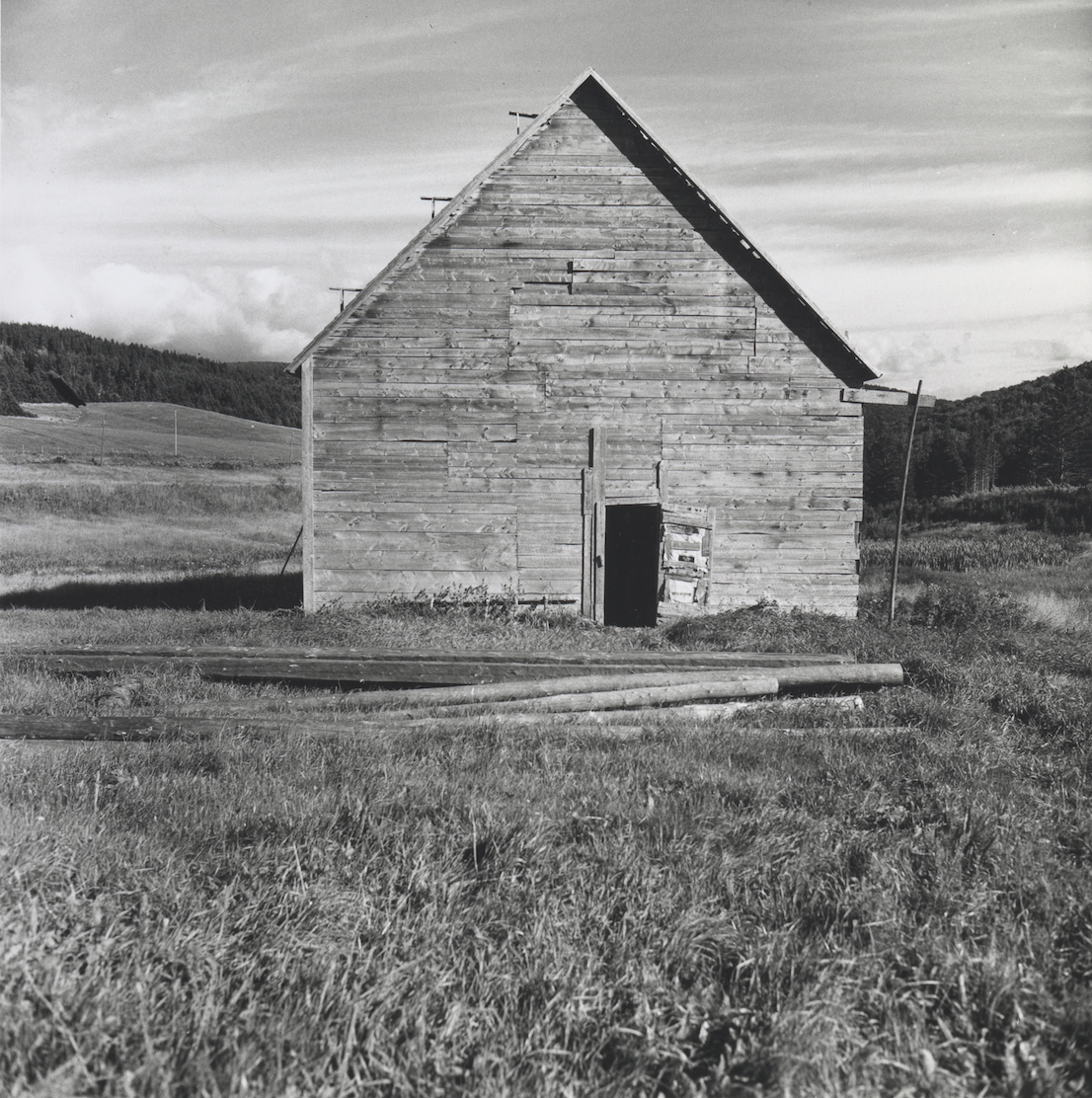 Walker Evans, Barn Nova Scotia, 1969 – 71. Collection of Clark and Joan Worswick. © Walker Evans Archive, The Metropolitan Museum of Art.