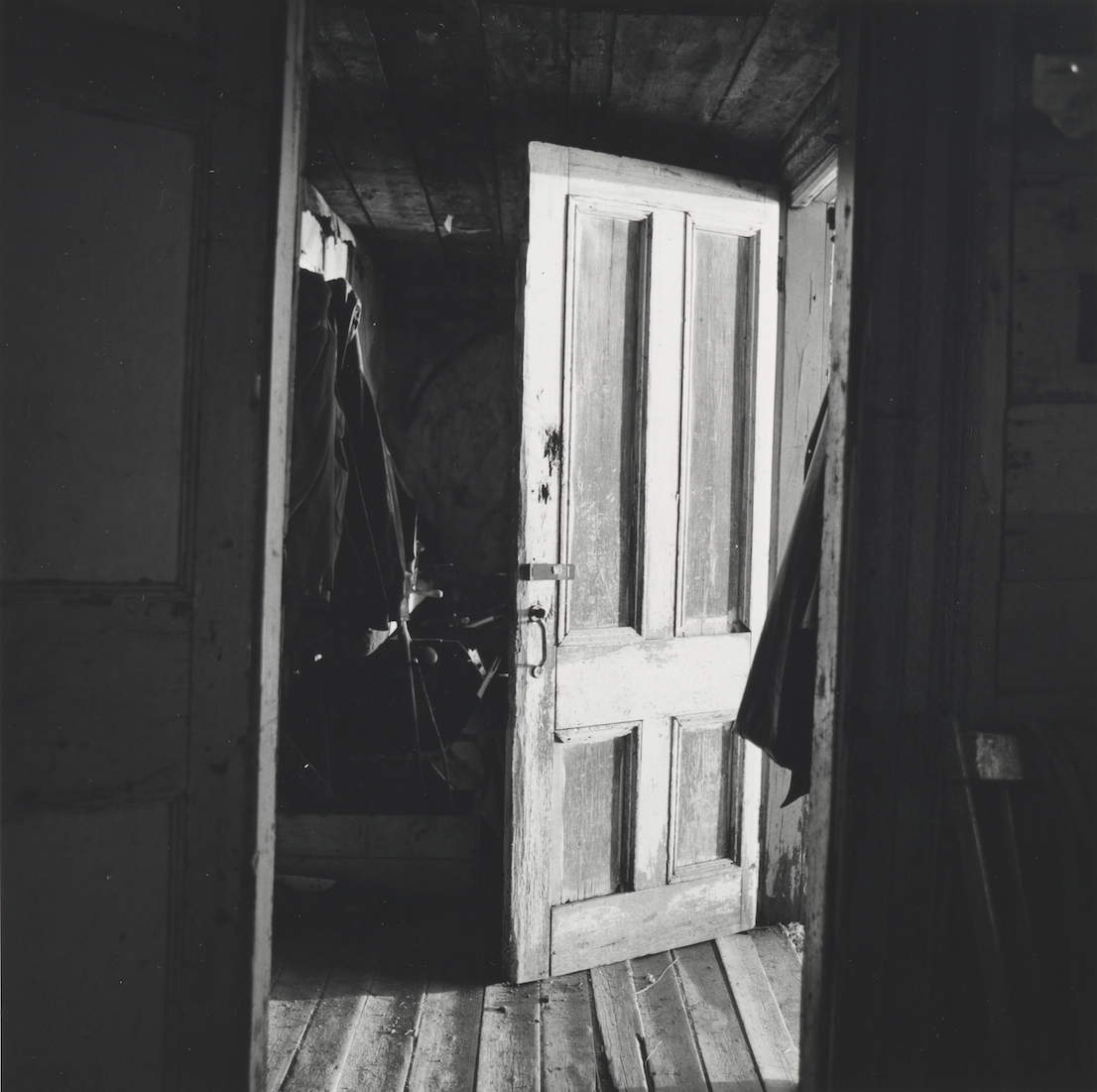 Walker Evans, Interior View of Robert Frank's House Nova Scotia, 1969 – 71. Collection of Clark and Joan Worswick. © Walker Evans Archive, The Metropolitan Museum of Art.