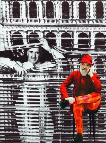 Ritratto di Piero e Barnaba Fornasetti. Foto di Giovanni Gastel e Ugo Mulas.