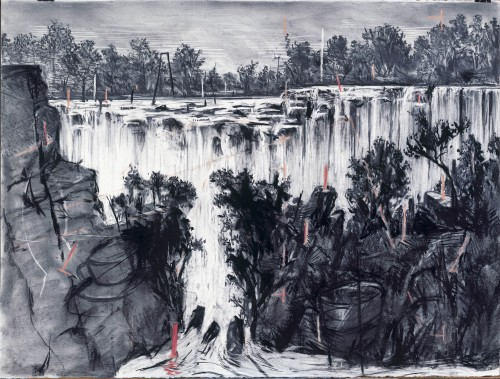 William Kentridge, Colonial Landscapes, 1995-96.