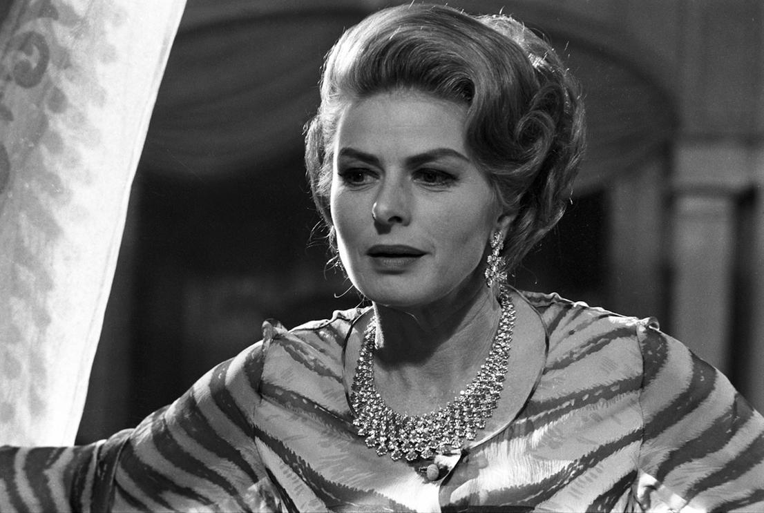 Ingrid Bergman nel film La Vendetta Della Signora, 1963.