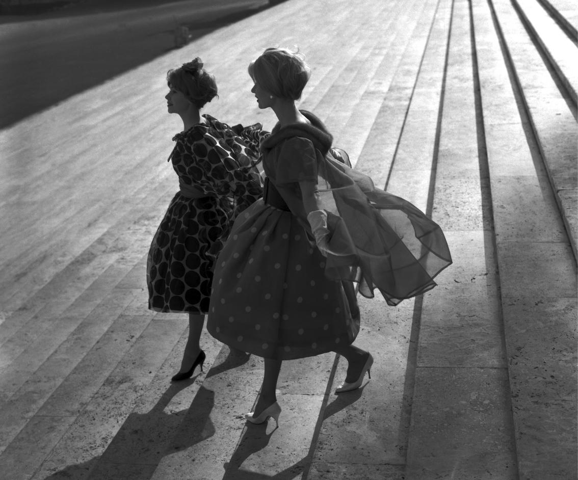 Roma, 1958. Collezione primavera estate di Valentino.