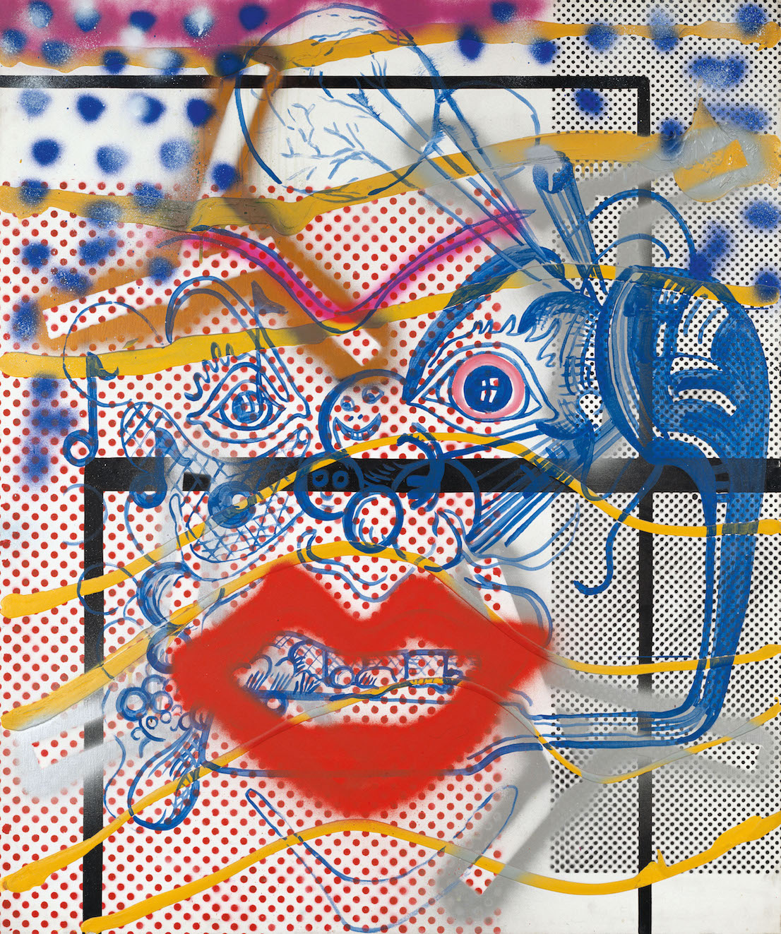 Sigmar Polke (1941 - 2010) Dr Berlin 1969-74 Private Collection © The Estate of Sigmar Polke / DACS, London / VG Bild-Kunst, Bonn