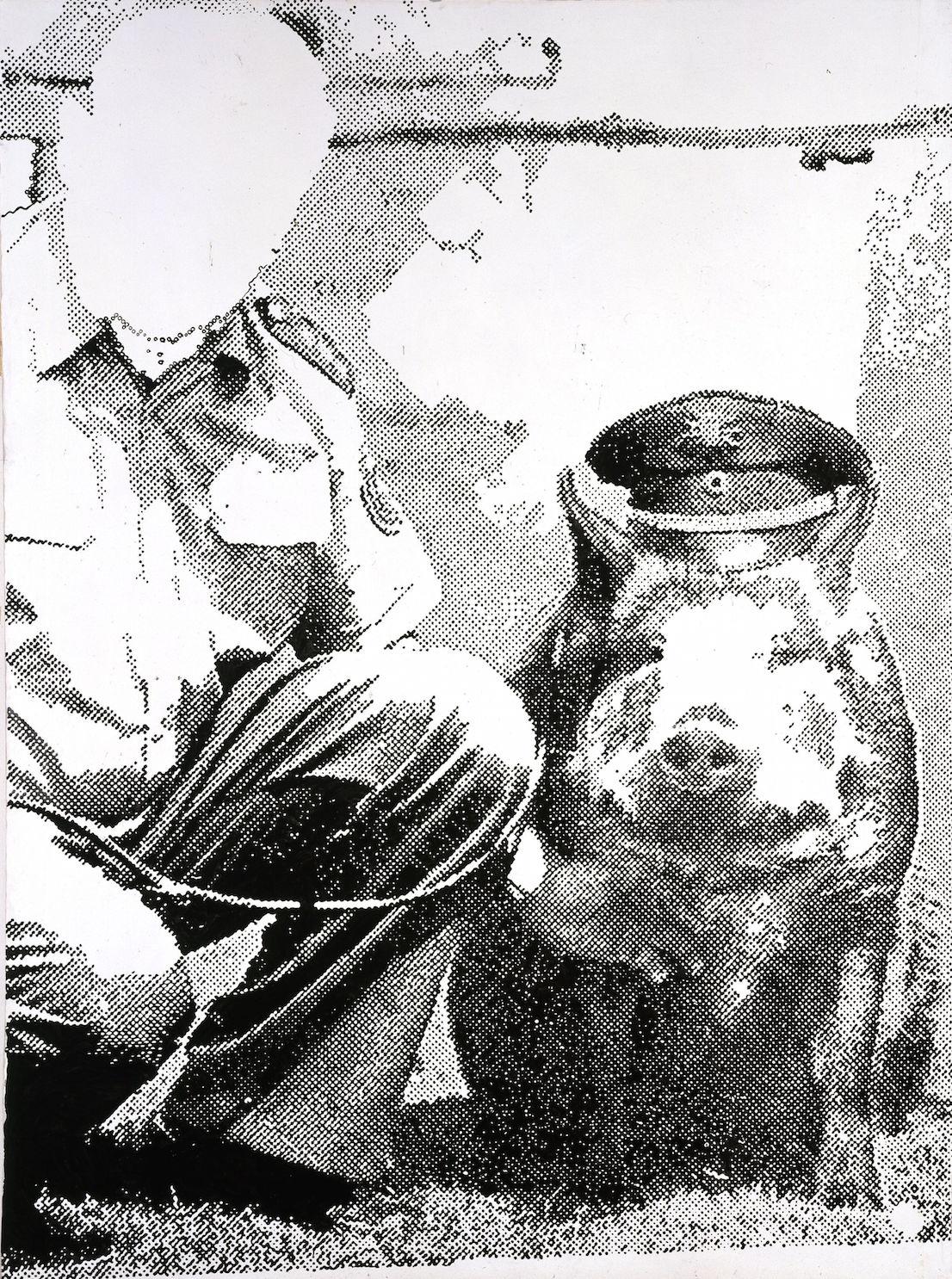 Sigmar Polke (1941 - 2010) Police Pig (Polizeischwein) 1986 © The Estate of Sigmar Polke / DACS, London / VG Bild-Kunst, Bonn