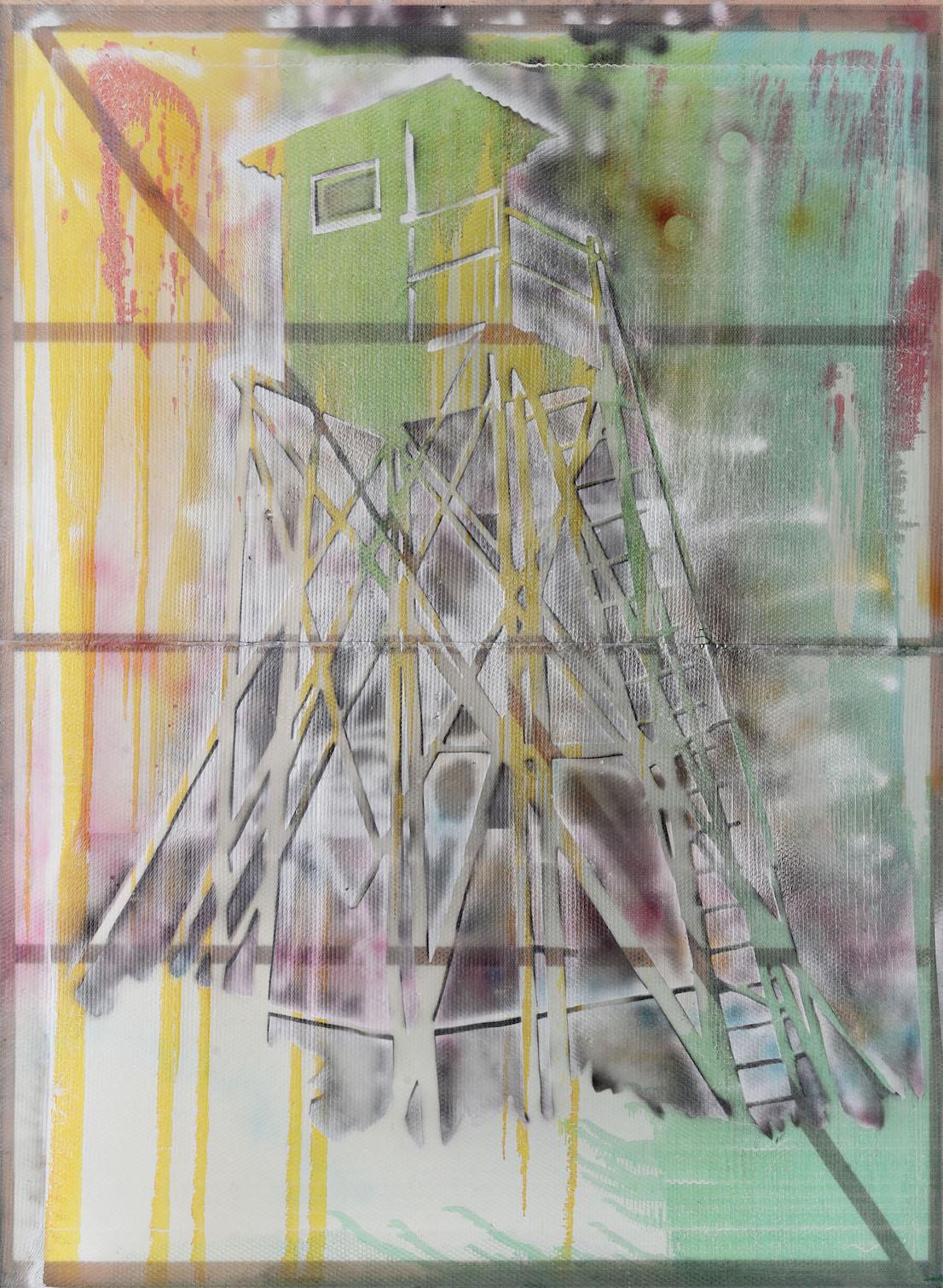 Sigmar Polke (1941 - 2010) Watchtower (Hochsitz)1984 IVAM, Institut Valencia d'Art Modern, Valencia, Spain © The Estate of Sigmar Polke / DACS, London / VG Bild-Kunst, Bonn