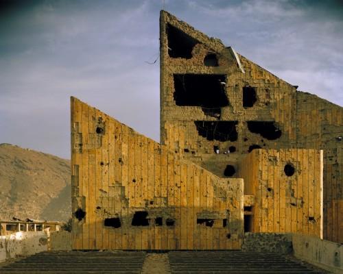 Simon Norfolk, Former Soviet-era Palace-of-Culture, Kabul, 2001-02. Courtesy: Simon Norfolk.