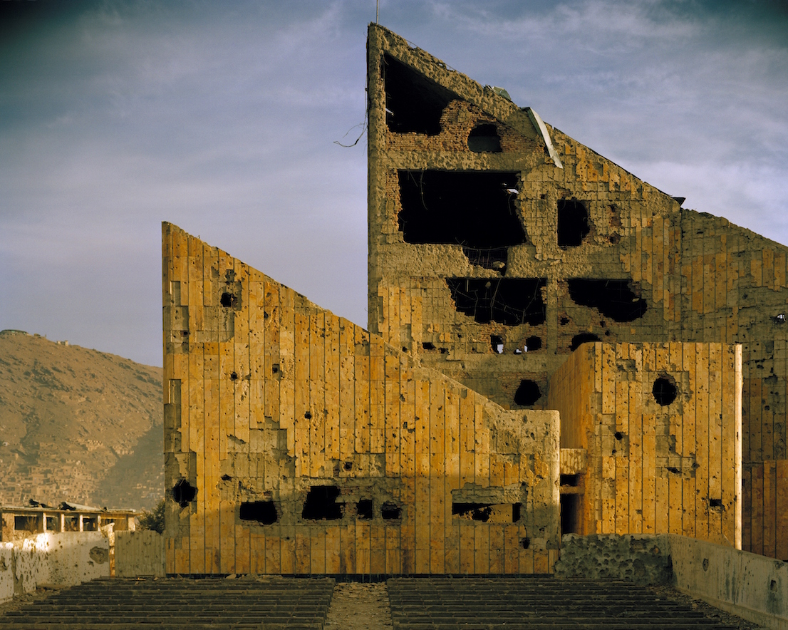 Simon Norfolk, Former Soviet-era Palace-of-Culture, Kabul, 2001-02. Courtesy: Simon Norfolk.
