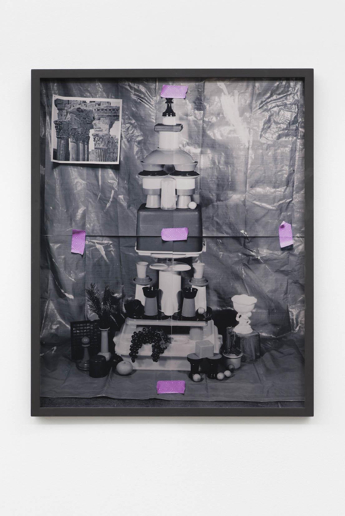 SARA CWYNAR, Corinthian Column (Plastic Cups), 2014.