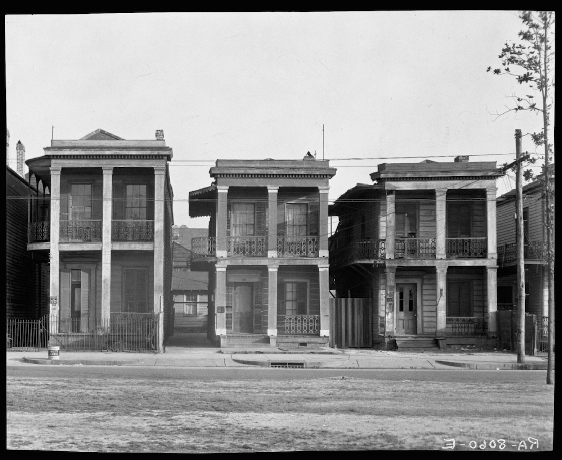 Walker Evans, Frame Houses, New Orleans, Louisiana, 1936.