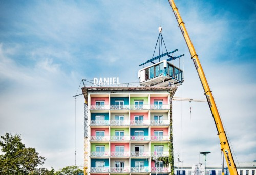 LoftCube, Hotel Daniel, Graz. Design di Studio Aisslinger.
