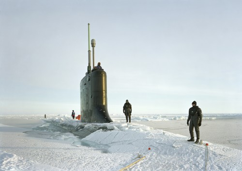 An-My Lê, Ship Divers, USS New Hampshire, Arctic Seas, 2011, from Events Ashore (Aperture, 2014). © An-My Lê, courtesy Murray Guy Gallery, New York.