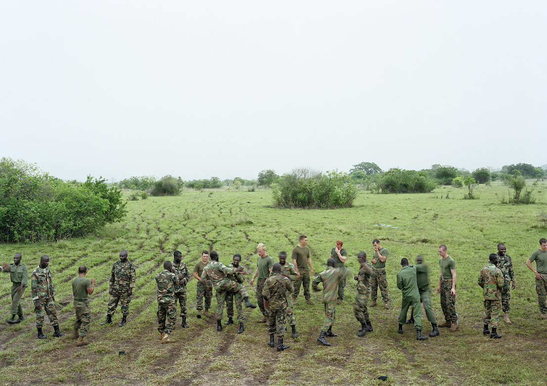 An-My Lê, Marine Corps Martial Art Program, Bundase Training Camp, Ghana, 2010, from Events Ashore (Aperture, 2014). © An-My Lê, courtesy Murray Guy Gallery, New York.