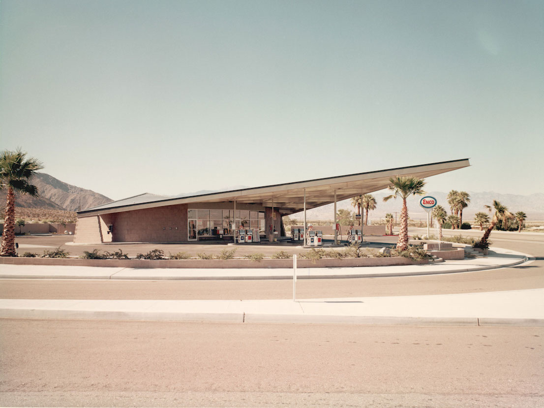 Enco Gas Station, Palm Springs, California, designed by Albert Frey in 1965.