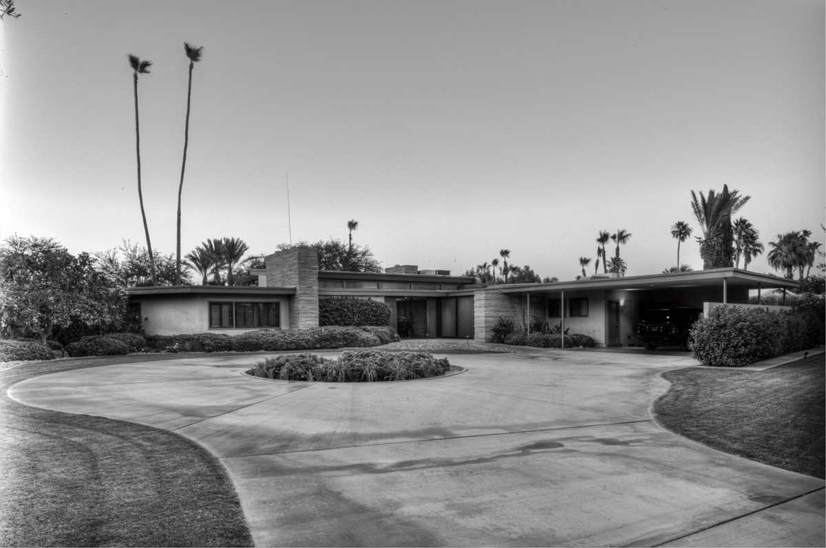 Twin Palms, Sinatra House, Palm Springs, California, designed by E. Stewart Williams, 1947.