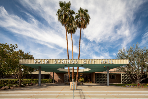 Palm Springs City Hall, Palm Springs, California, designed by Albert Frey in 1952.