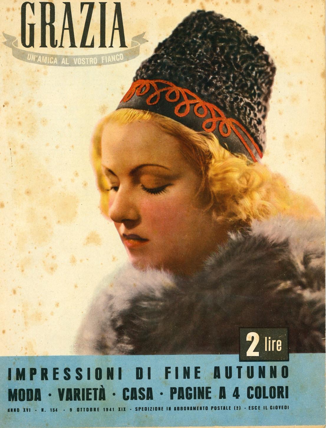 Grazia 154, 1941. Copertina.