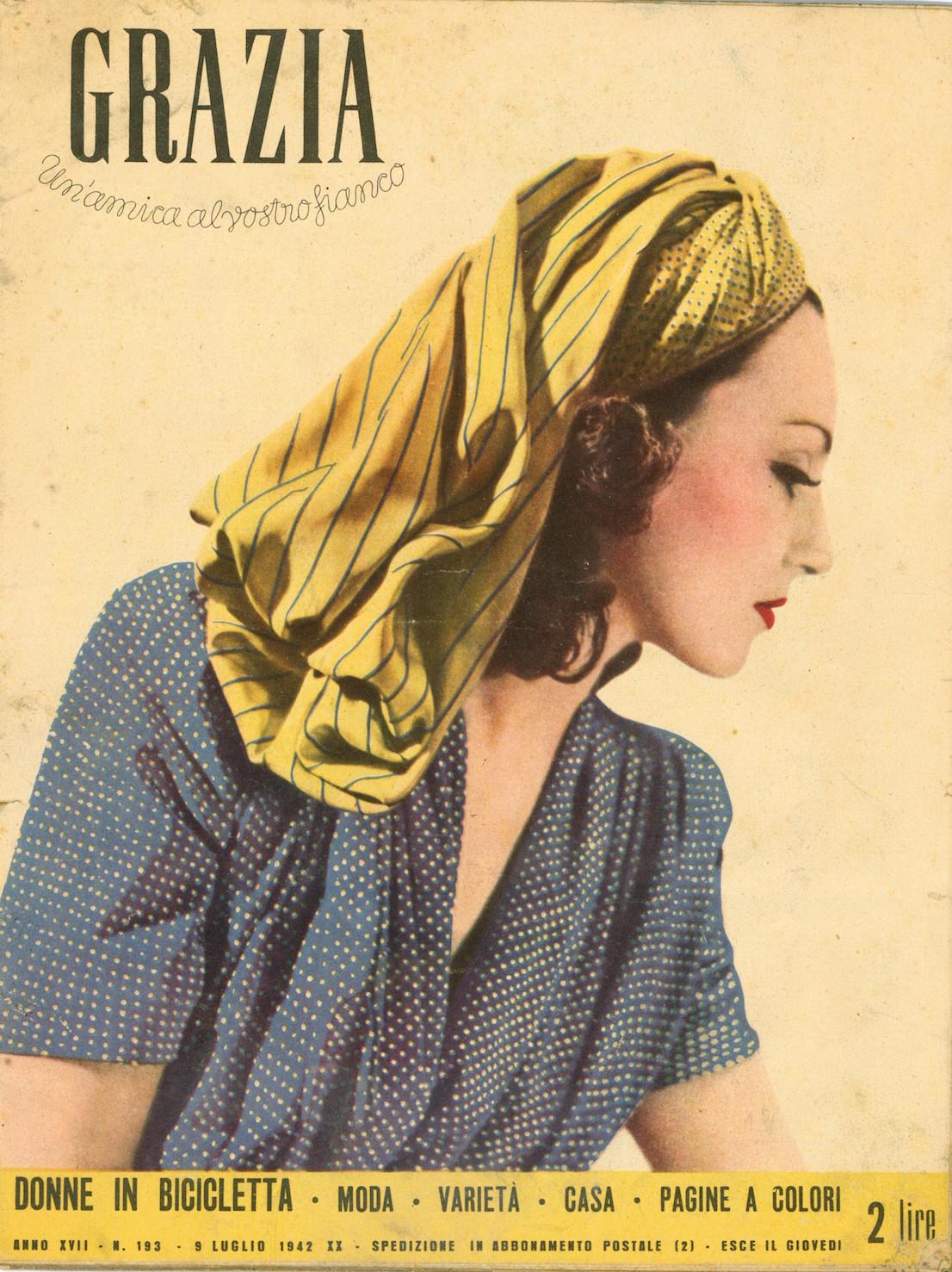 Grazia 193, 1942. Copertina.