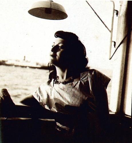 Lina Bo Bardi sulla nave Almirante.