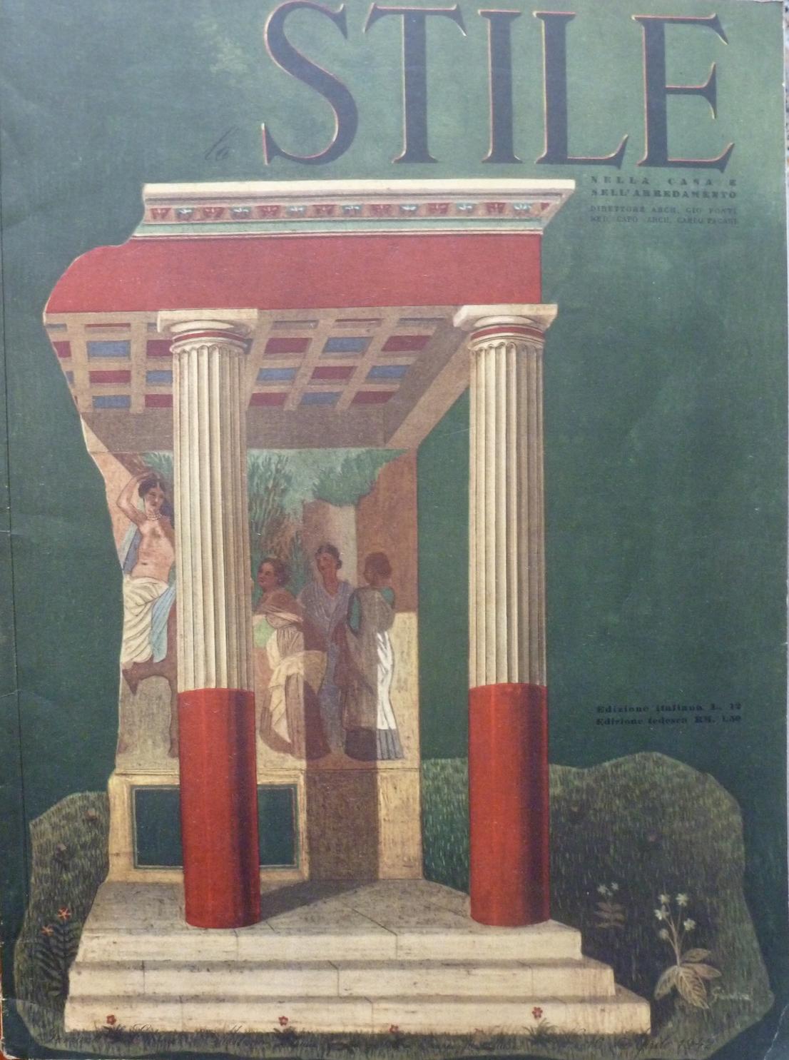 Lo Stile 16, 1942. Copertina Gienlica (Gio Ponti, Enrico Bo, Lina Bo Bardi, Carlo Pagani).