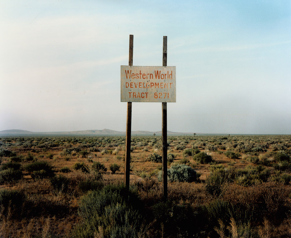 Wim Wenders, Western World Development, Near Four Corners, California, 1986.