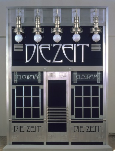 Otto Wagner portal of the telegram office of Die Zeit (reconstruction by Adolf Krischanitz and Otto Kapfinger), 1902/1985 © Wien Museum