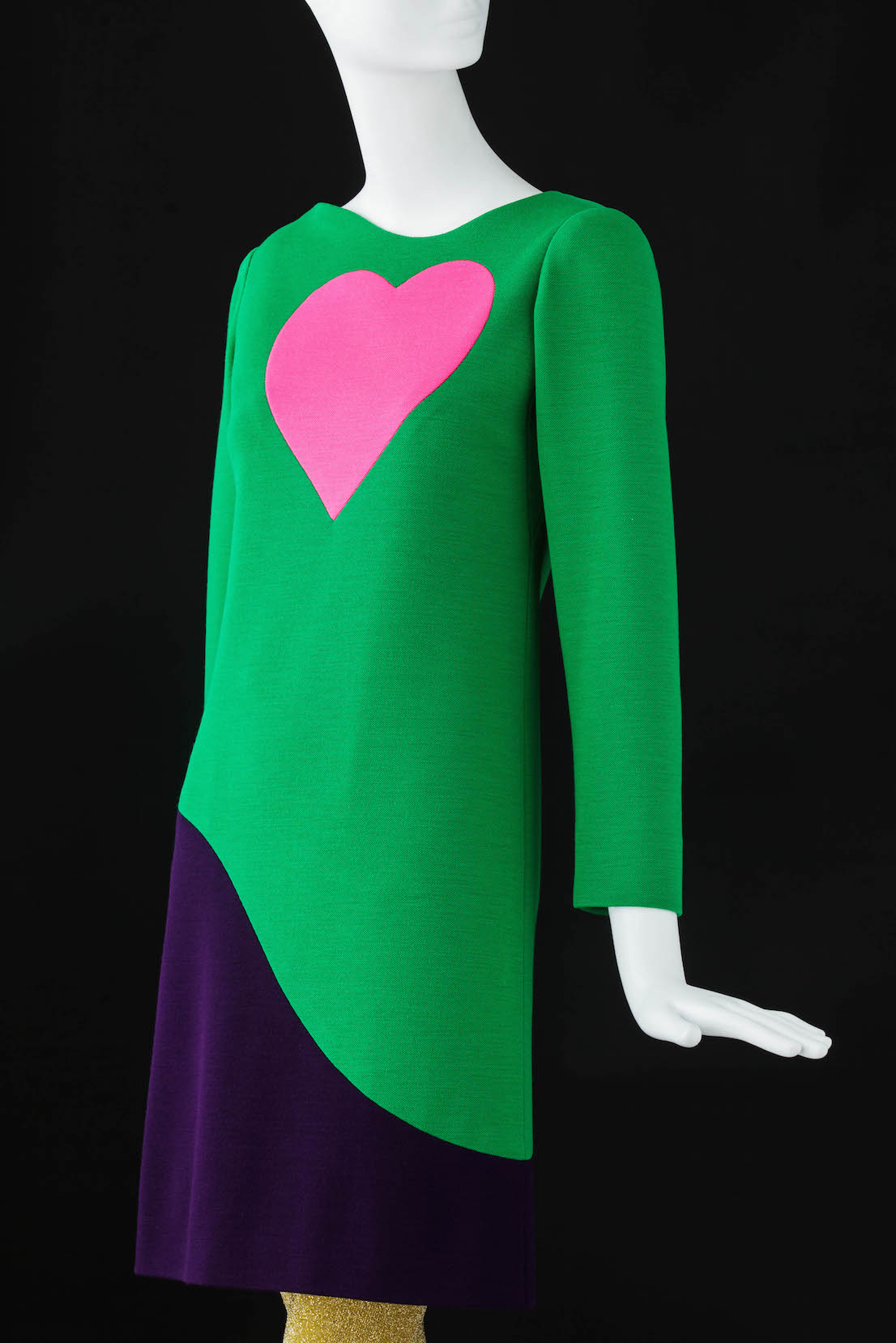 Yves Saint Laurent, Cocktail dress, Fall-Winter 1966. Inspired by Pop Art.