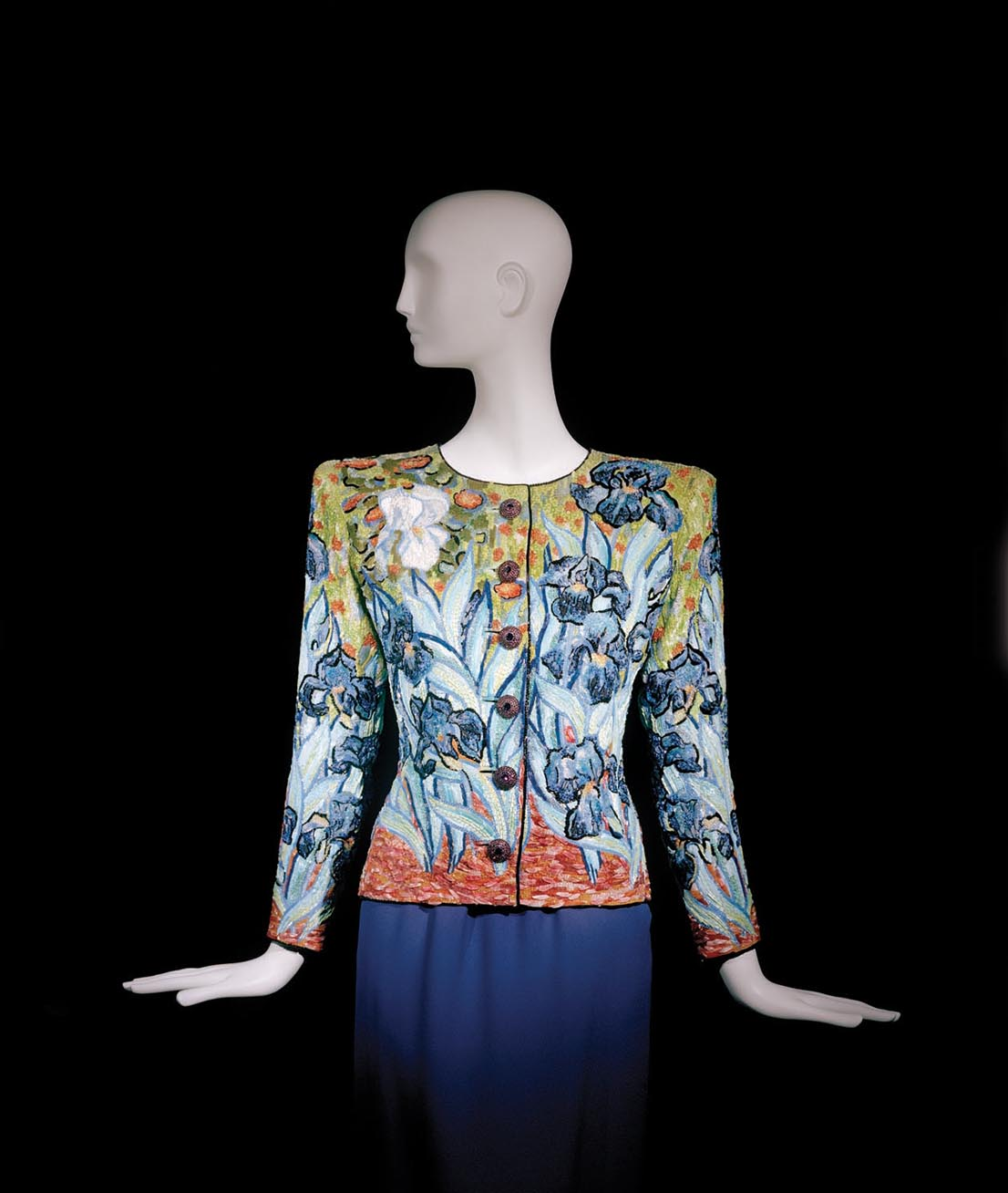 Yves Saint Laurent, short evening ensemble. Fall-Winter 1988. Tribute to Vincent van Gogh.