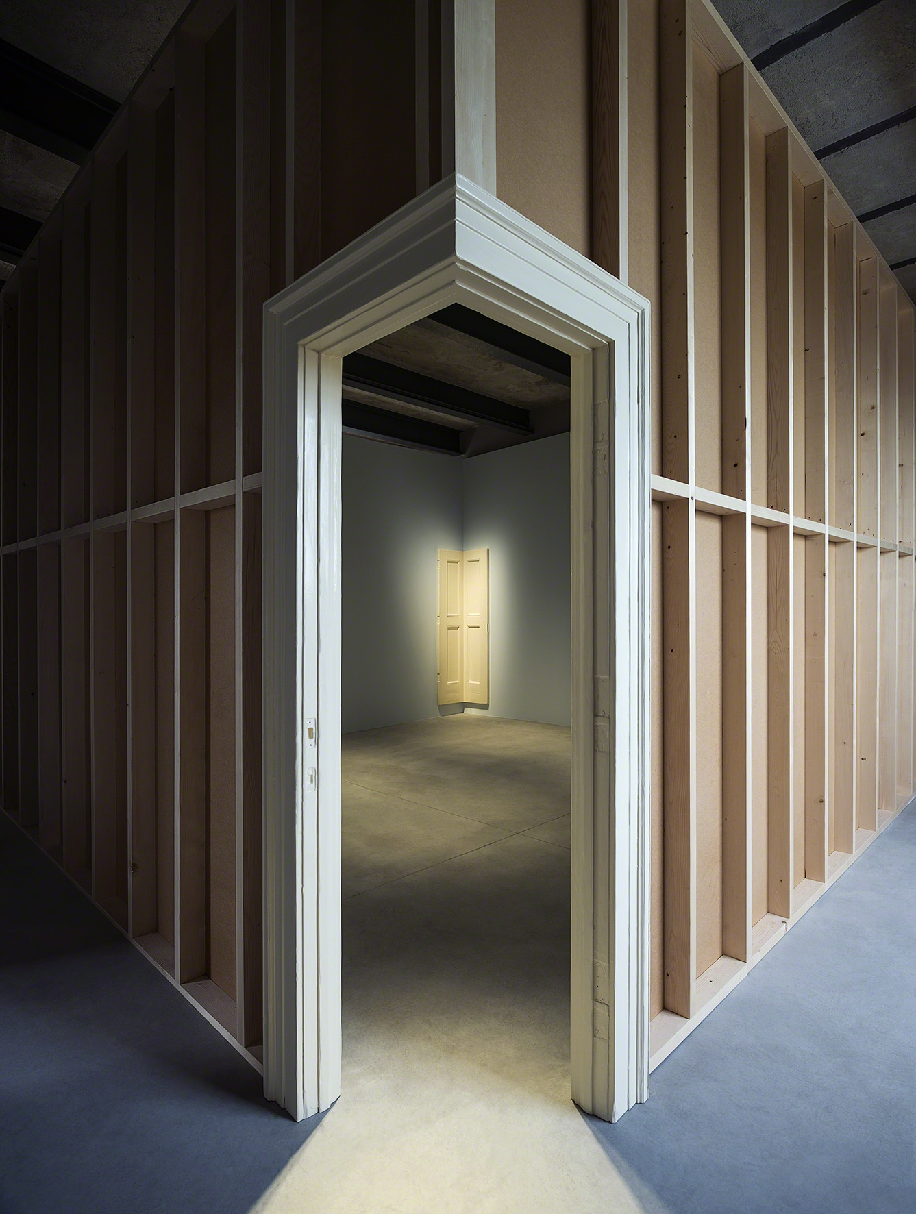 Robert Gober, Corner Door and Doorframe, 2014-2015. Photo: Attilio Maranzano. Courtesy: Fondazione Prada.