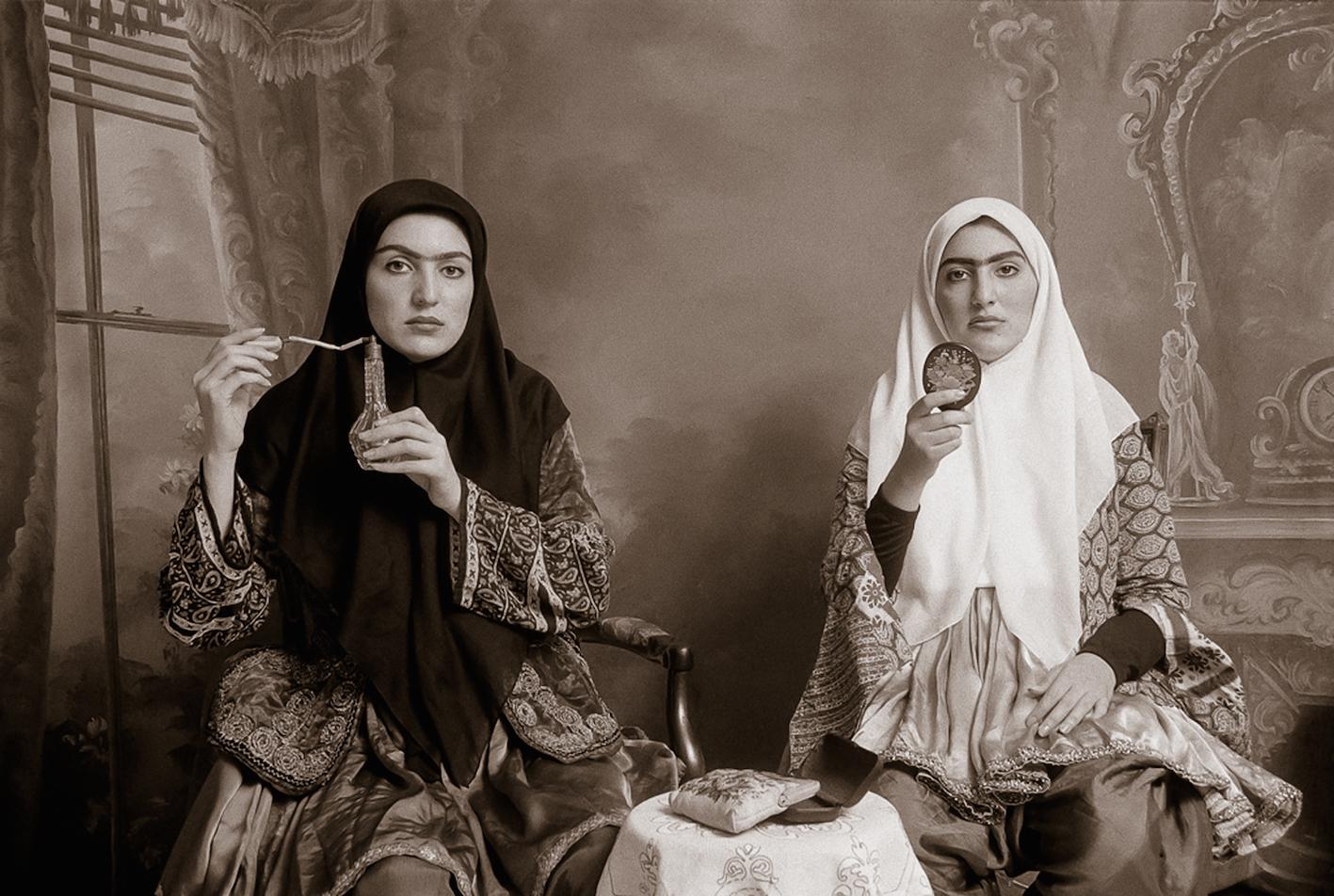 Shadi Ghadirian, Qajar #7, 1998.