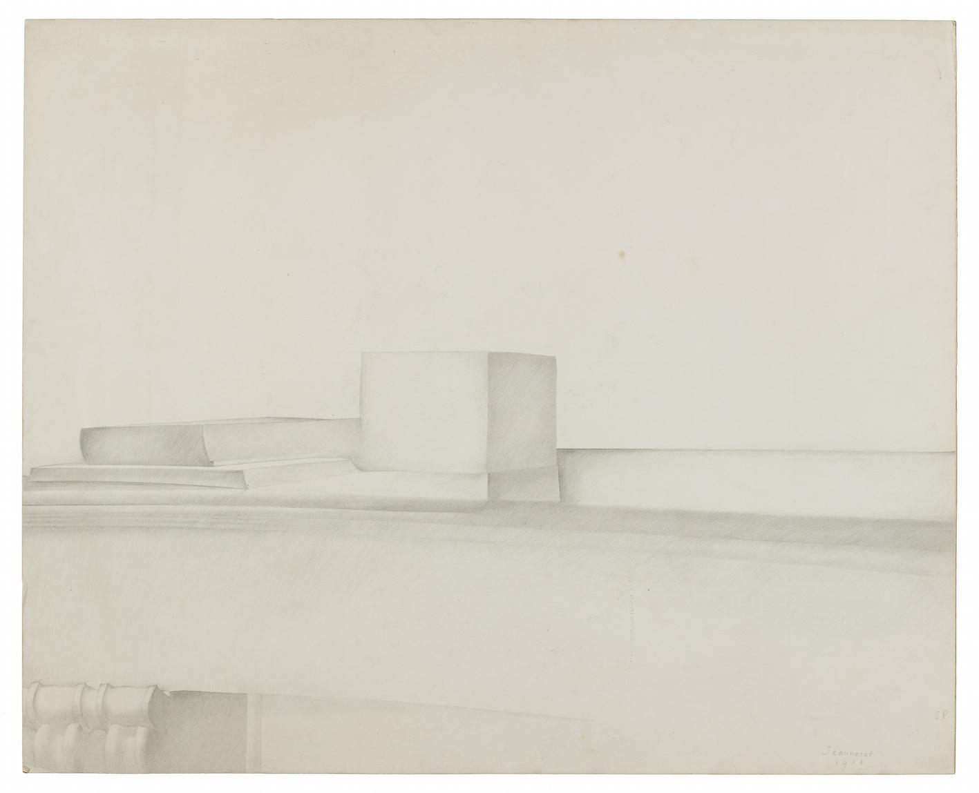 Le Corbusier, Étude pour la cheminée, 1918.