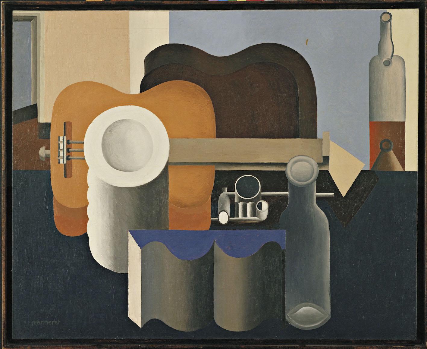 Le Corbusier, Nature morte à la pile d'assiettes et au livre, 1920.