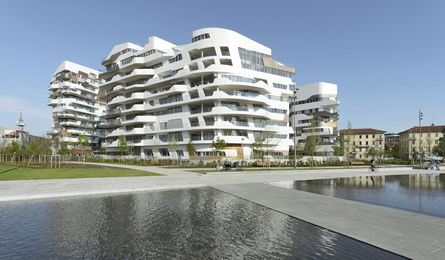 Citylife milano hadid libeskind residenze klat for Palazzine moderne