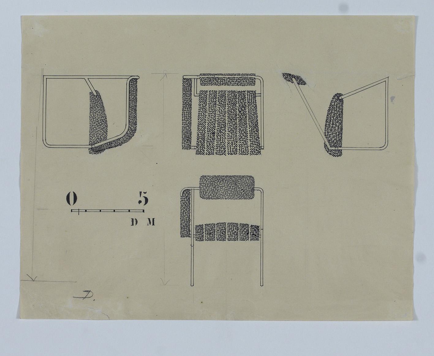 Non-conformist Chair, 1926. Disegno/Drawing. © NMI.