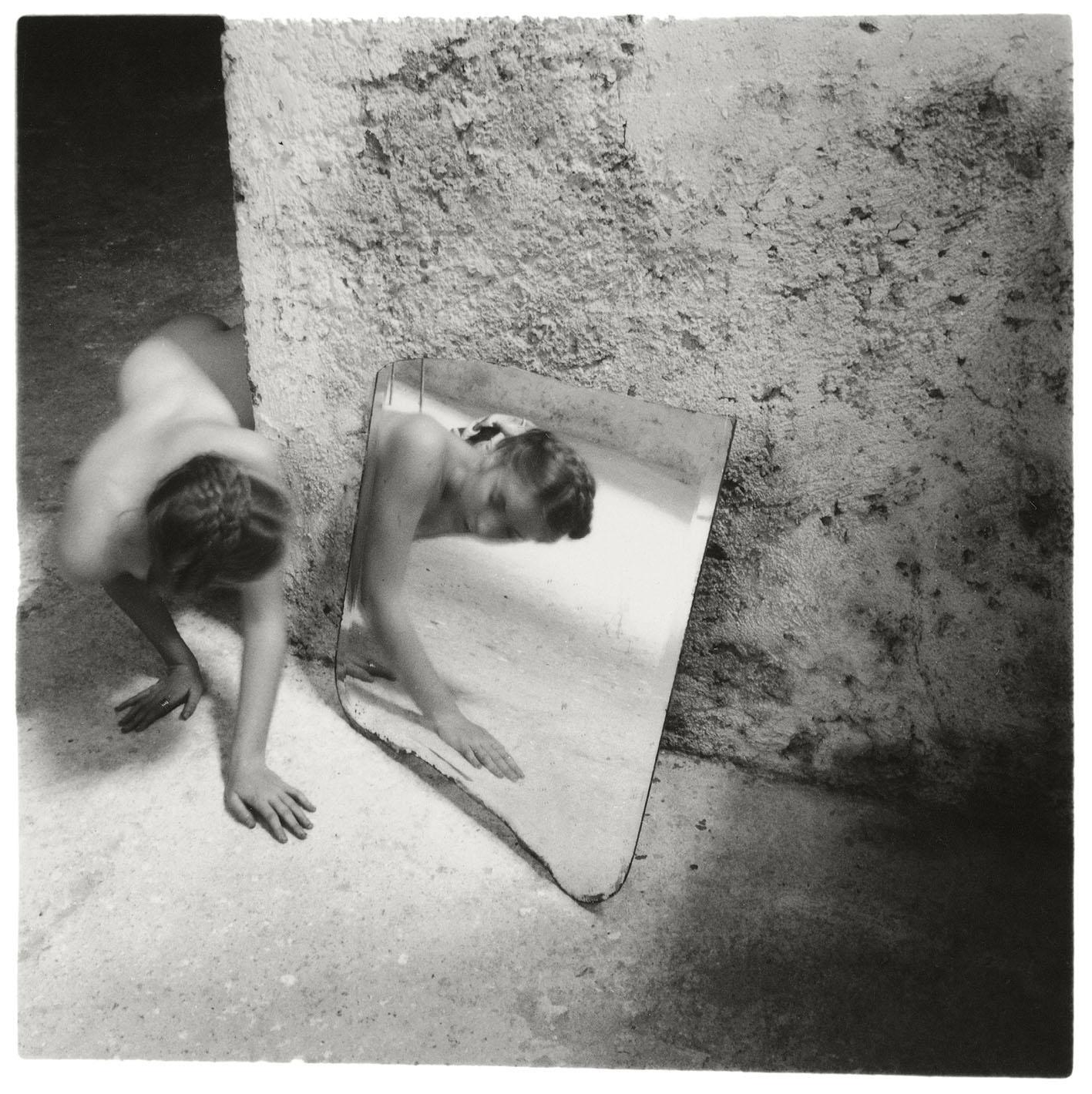 Francesca Woodman, Self-Deceit # 1, 1978. © Betty and George Woodman.