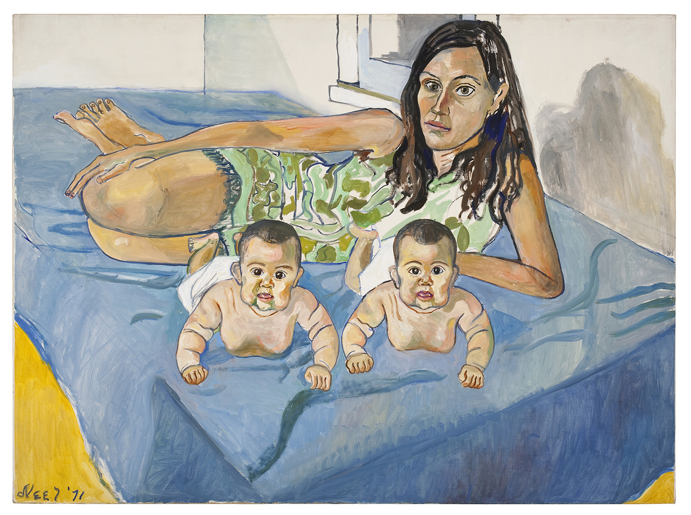 Alice Neel, Nancy and the twins, 1971. © Estate of Alice Neel.