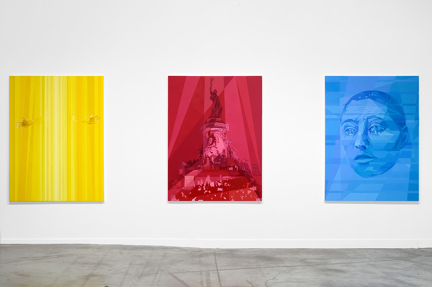 Ostoya Anna, Yellow Red Blue, 2015. Courtesy: Ostoya Anna, De Tegenboschvanvreden, Amsterdam e/and La Biennale de Lyon. Photo: © Blaise Adilon.