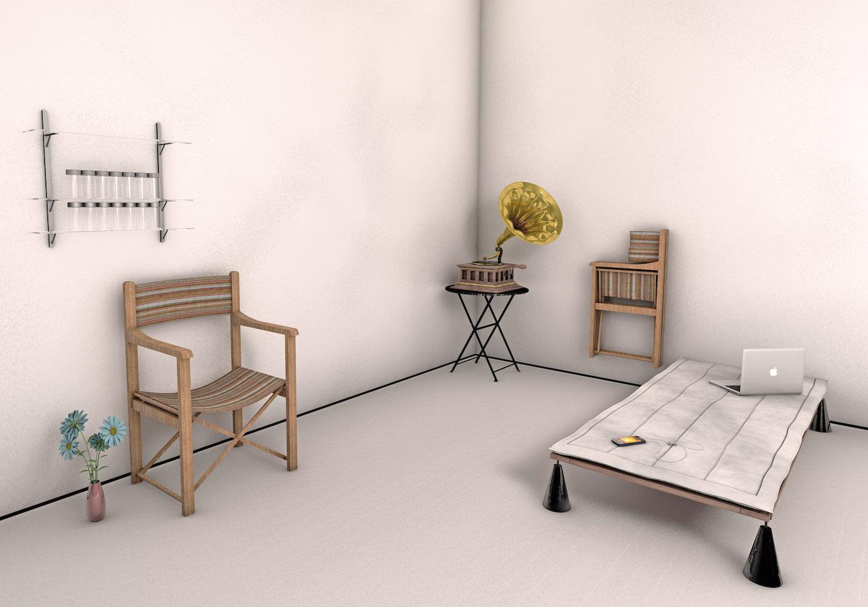 AYRBRB, Home '14: Pavilion, based on Hannes Meyer's Co-Op room, 2014, © AYRBRB.