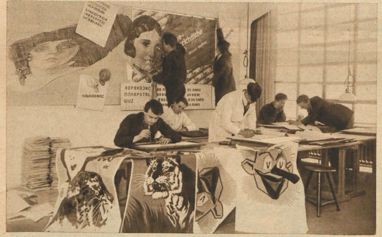 Advertising workshop, Bauhaus Dessau, 1926.