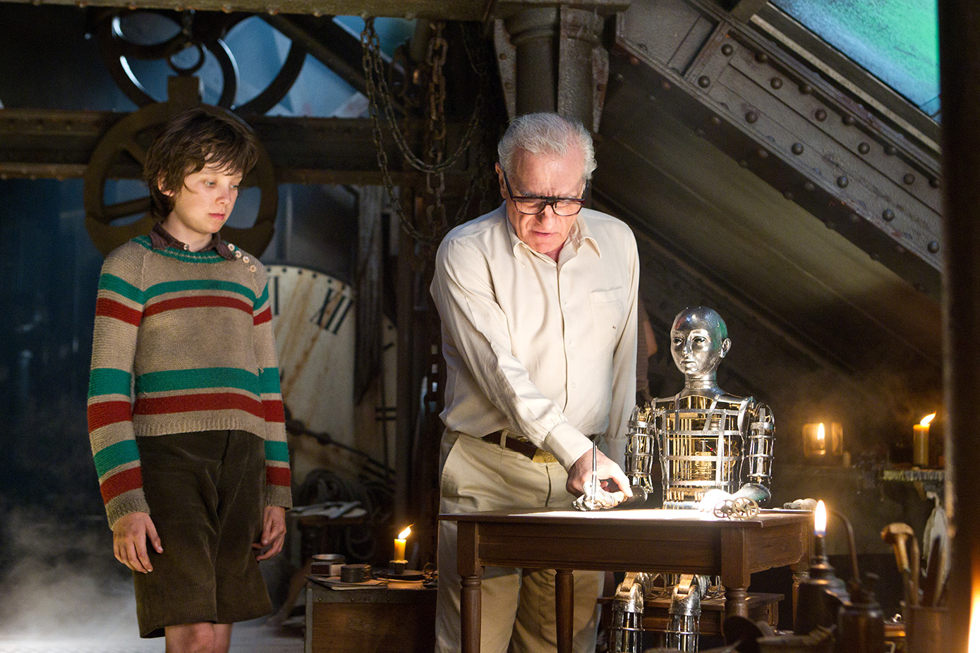 Asa Butterfield e/and Martin Scorsese. Hugo Cabret, 2011. Martin Scorsese Collection, New York.