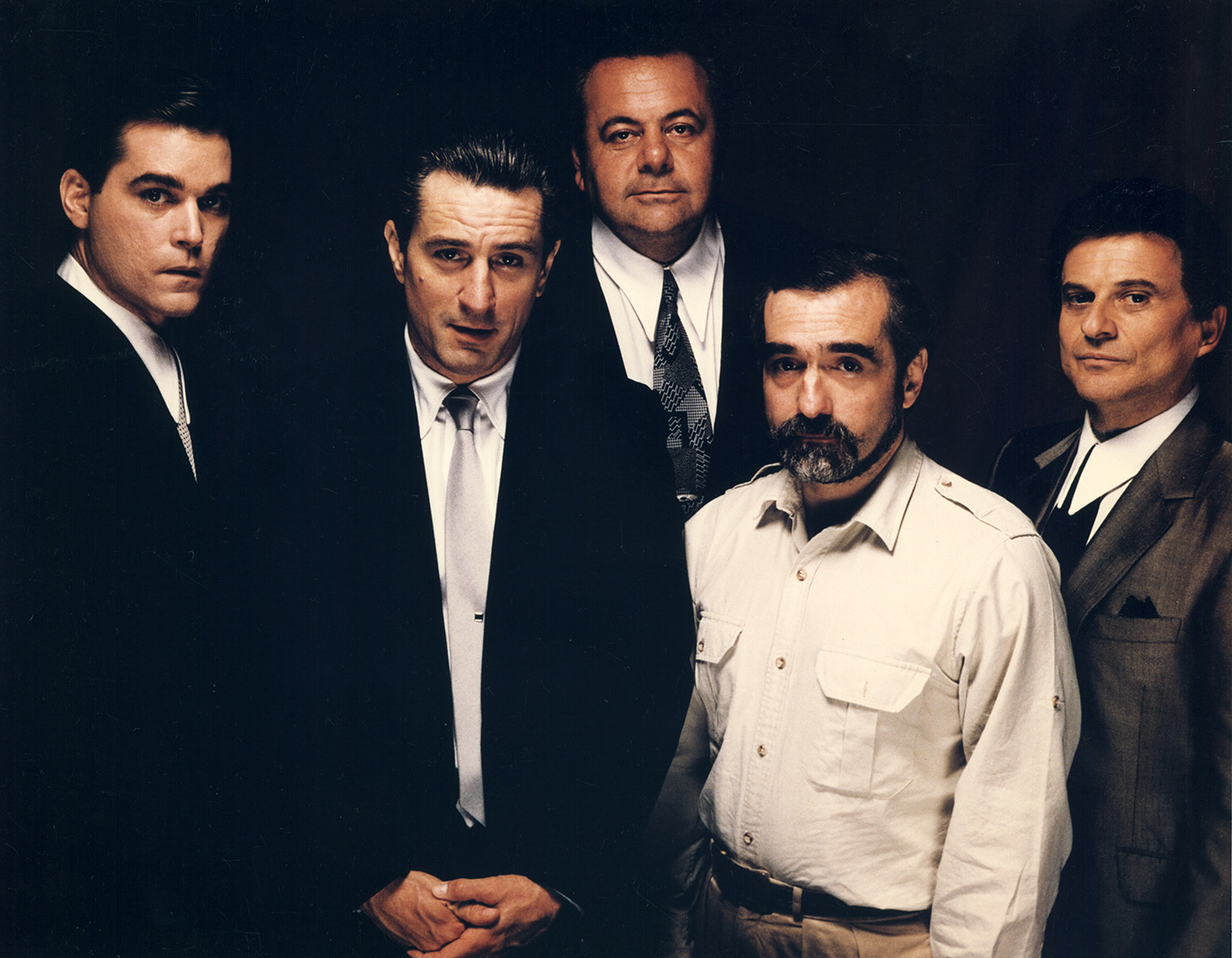 Ray Liotta, Robert DeNiro, Paul Sorvino, Martin Scorsese e/and Joe Pesci, Goodfellas, 1990. Martin Scorsese Collection, New York.