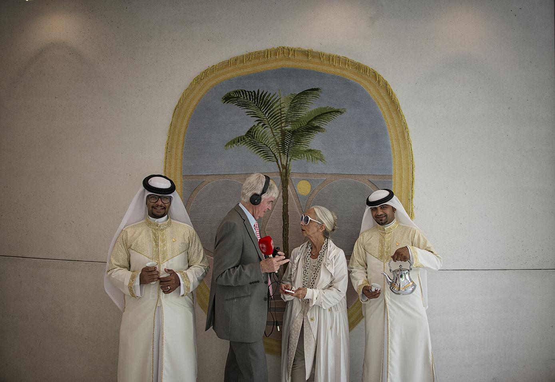 Rossana Orlandi al Padiglione del Bahrain, Expo 2015. Foto: Marco Tabasso.