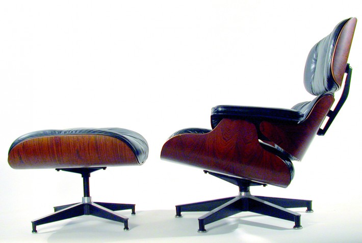 Lounge Chair and Ottoman, 1956. / Lounge Chair and Ottoman, 1956.