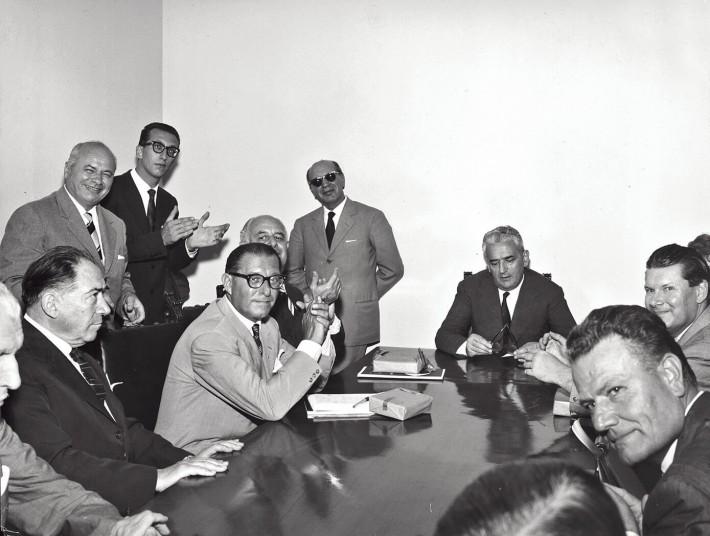 Salone del Mobile, 1961. Press conference.