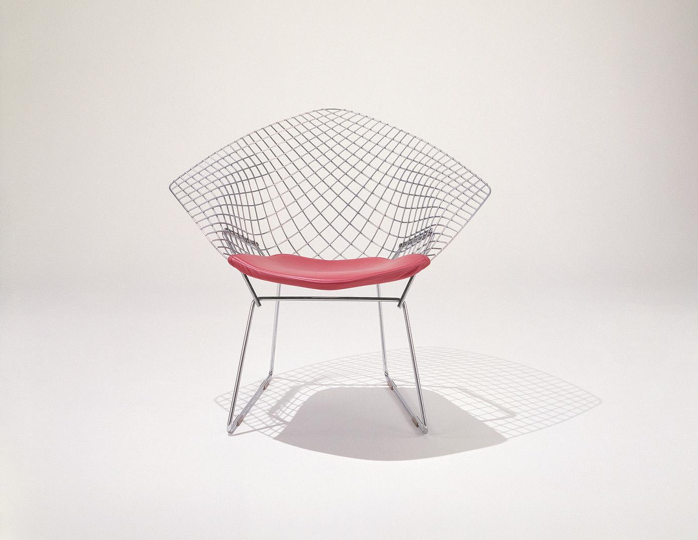 diamond chair knoll harry bertoia evergreen 038 klatmagazine. Black Bedroom Furniture Sets. Home Design Ideas