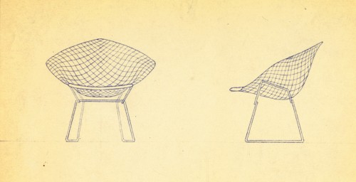 Diamond Chair, design di Harry Bertoia per Knoll.