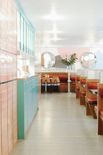 Diner OverEasy Orchard, Hui Designs, Singapore.