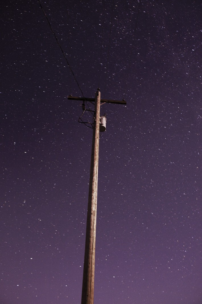 Ryan McGinley, Night Sky (telephone pole), 2014.