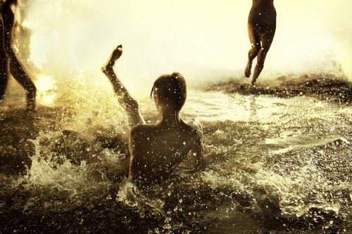 Ryan McGinley, Flash Flood (Gold), 2012.