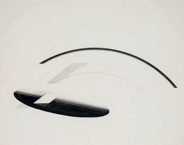Nasreen Mohamedi, Untitled, 1980 circa. Collection of Dossal Family (Mariam Panjwani, Zeenat Sadikot, Laila Khalid).